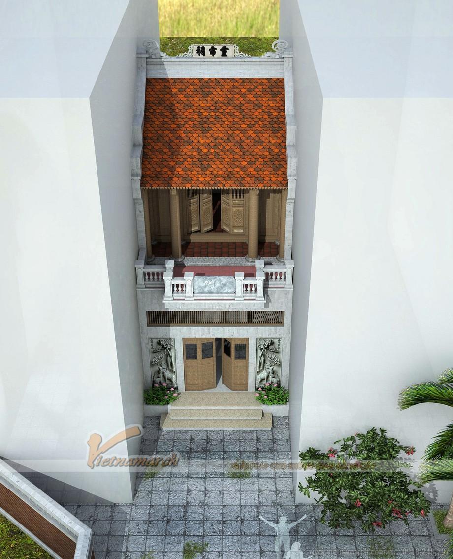 Vẻ đẹp riêng biệt nổi bật trong thiết kế nhà thờ họ 2 tầng ở Hà Đông
