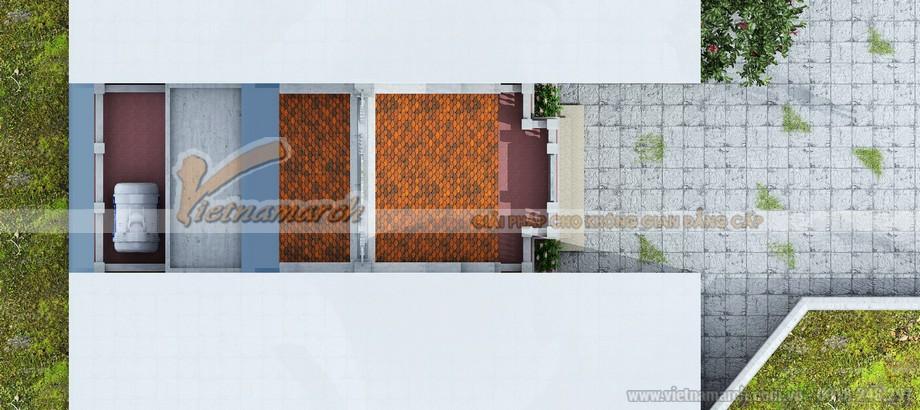 Tổng thể mặt bằng nhà thờ họ 2 tầng của chị Thảo - Hà Đông
