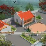 Phương án thiết kế nhà thờ họ 2 mái truyền thống cho Bác Hảo ở Nghệ An