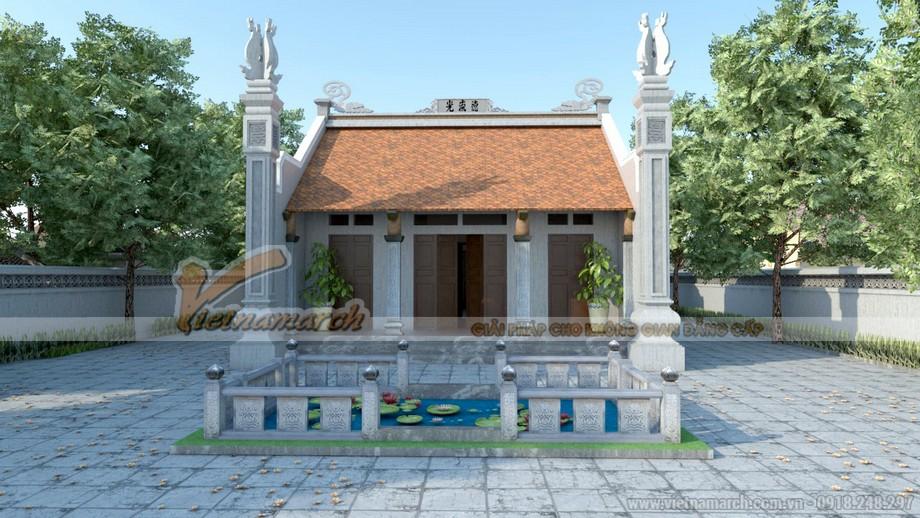 Thiết kế nhà thờ họ chú Thái - Bắc Ninh