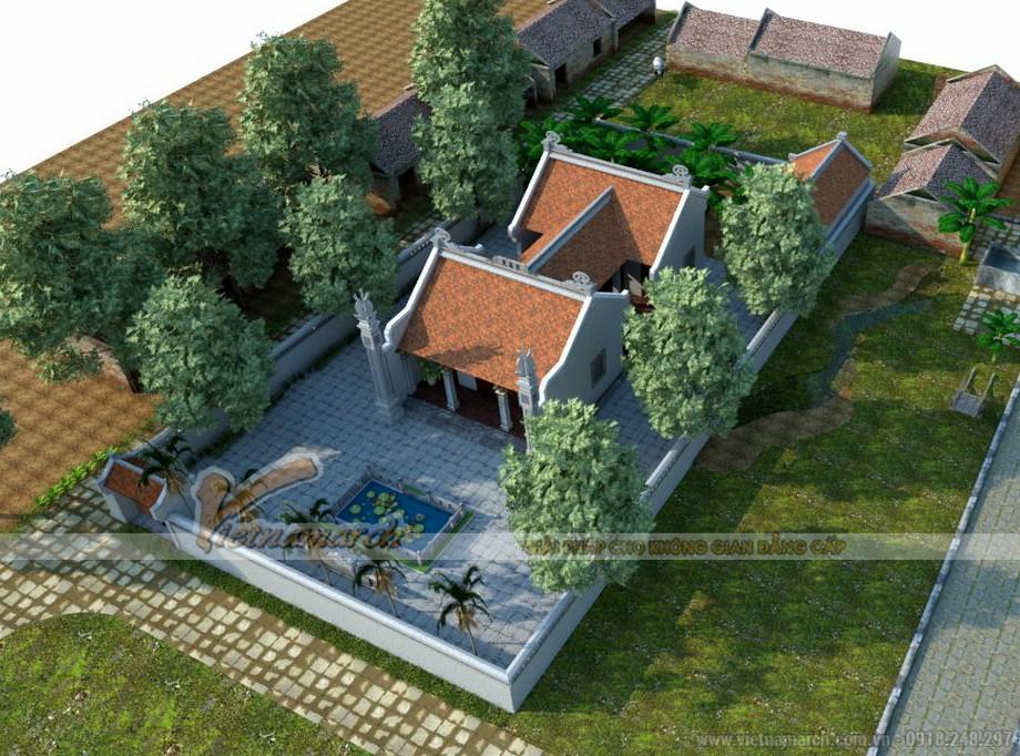 Tổng thể thiết kế nhà thờ họ chú Thái - Bắc Ninh