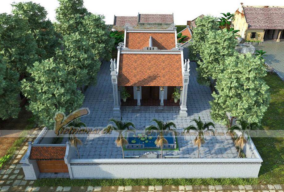 Tiểu cảnh xung quanh nhà thờ họ chú Thái - Bắc Ninh