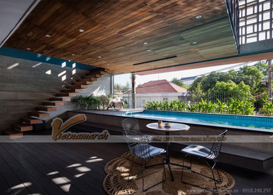 Ngôi nhà ở Sài Gòn với bể bơi nằm ở tầng 2