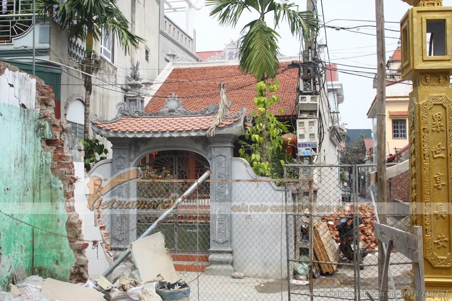 Cổng sau khi hoàn thành nhà thờ họ tại Ninh Bình