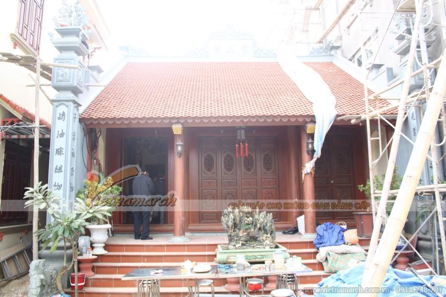 Kiến trúc tổng quan mặt trước nhà thờ họ tại Ninh Bình