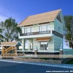 Phương án thiết kế nhà phố 2 tầng hiện đại cho nhà cô Huyền – An Lão – Hải phòng