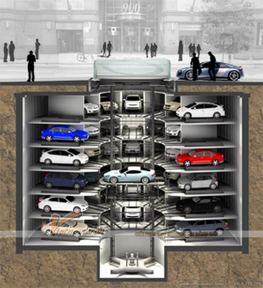 Hệ thống đỗ xe kiểu tháp
