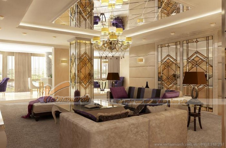 Thiết kế nội thất biệt thự tân cổ điển tại Lạng Sơn