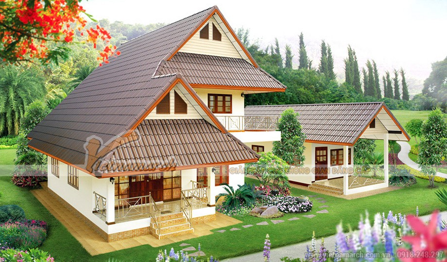 Thiết kế nhà đẹp 2 tầng mái thái cho nhà chú Phúc tại Sapa - Lào Cai