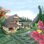Thiết kế nhà đẹp 2 tầng mái thái cho nhà chú Phúc tại Sapa – Lào Cai