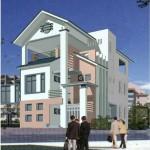 Hồ sơ thiết kế biệt thự phố 3 tầng nhà anh Đông tại Hà Tĩnh