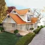 Thiết kế biệt thự 2 tầng mái thái đẹp mộng mơ tại Sapa – Lào Cai