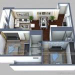 Phương án thiết kế căn hộ 01 Park 2 chung cư Times City Park Hill