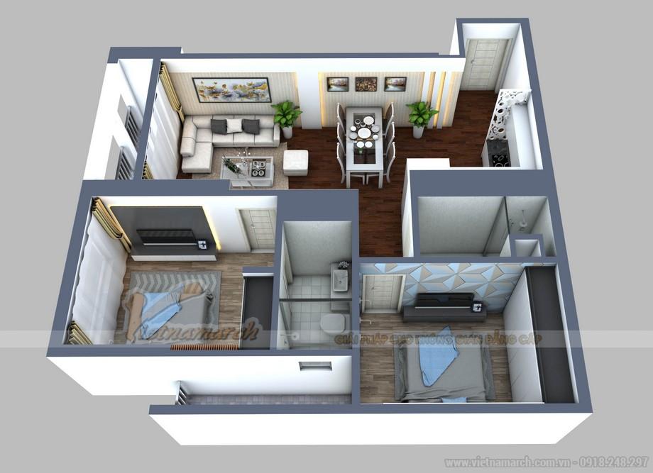 Mặt bằng cải tạo căn hộ 01 Park 2 chung cư Park Hill Times City
