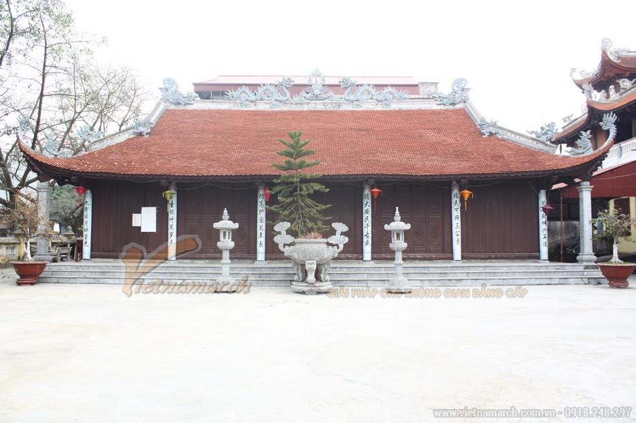 Thiết kế , thi công chùa 5 gian 4 mái cổ kính tại Bắc Ninh