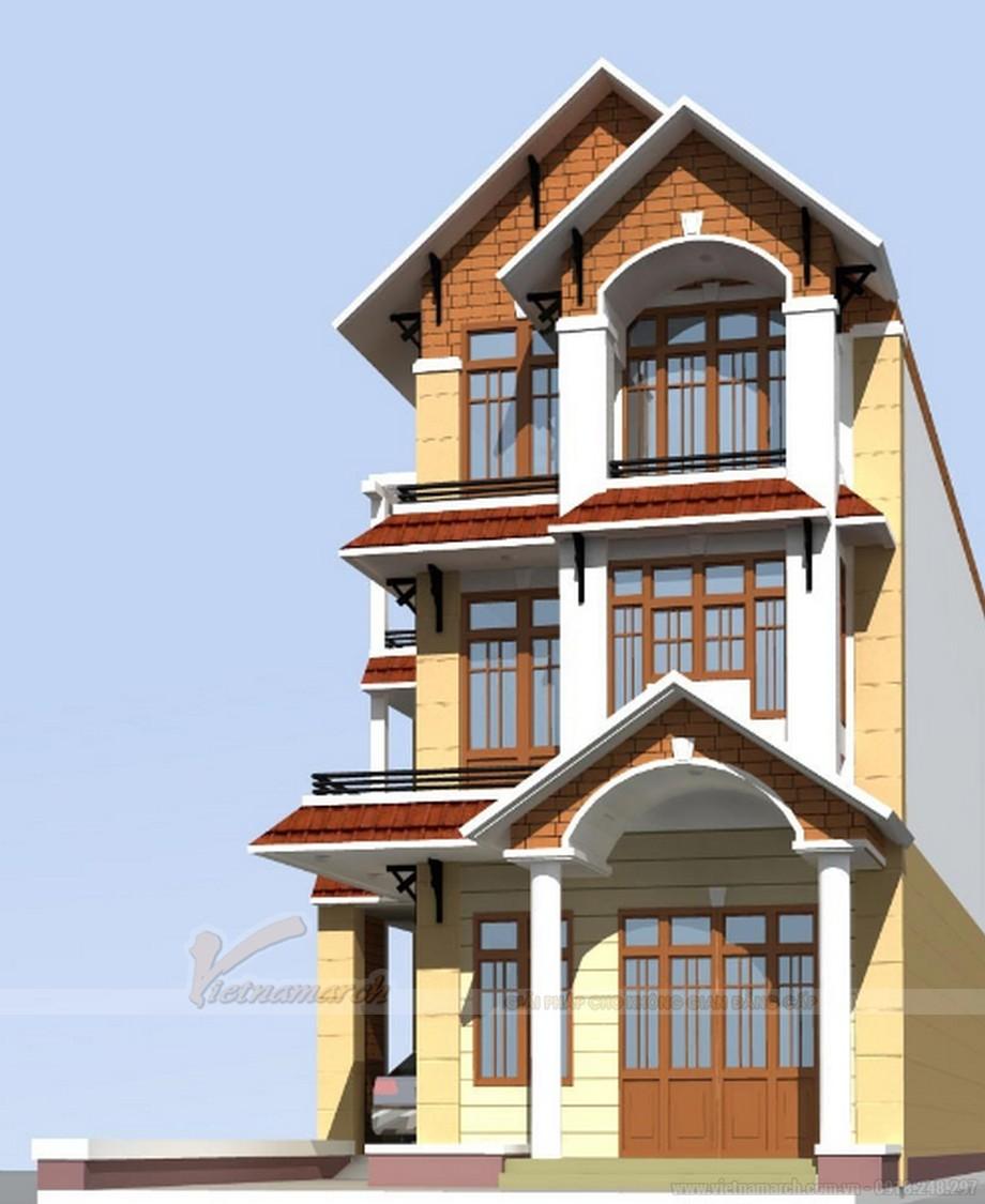 Tổng hợp 15 mẫu nhà phố 3 tầng cực đẹp, mặt tiền chưa đầy 5m-02