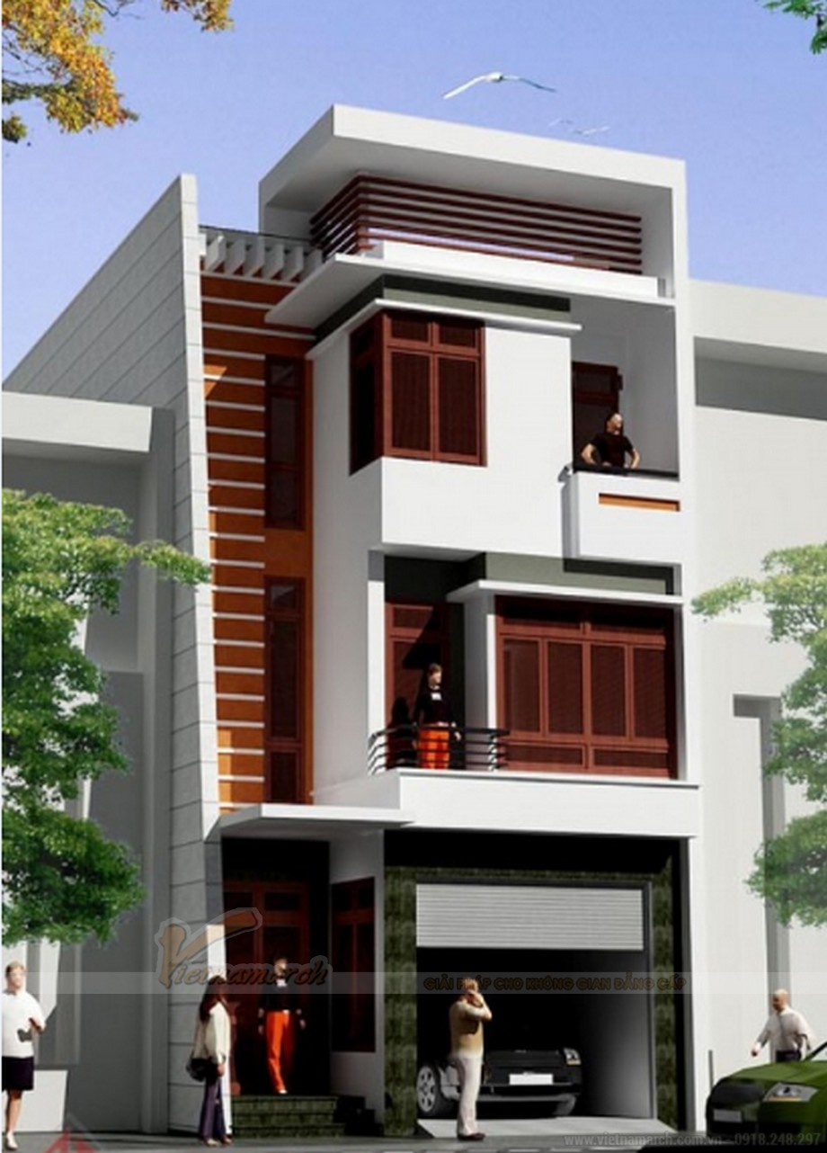 Tổng hợp 15 mẫu nhà phố 3 tầng cực đẹp, mặt tiền chưa đầy 5m-14