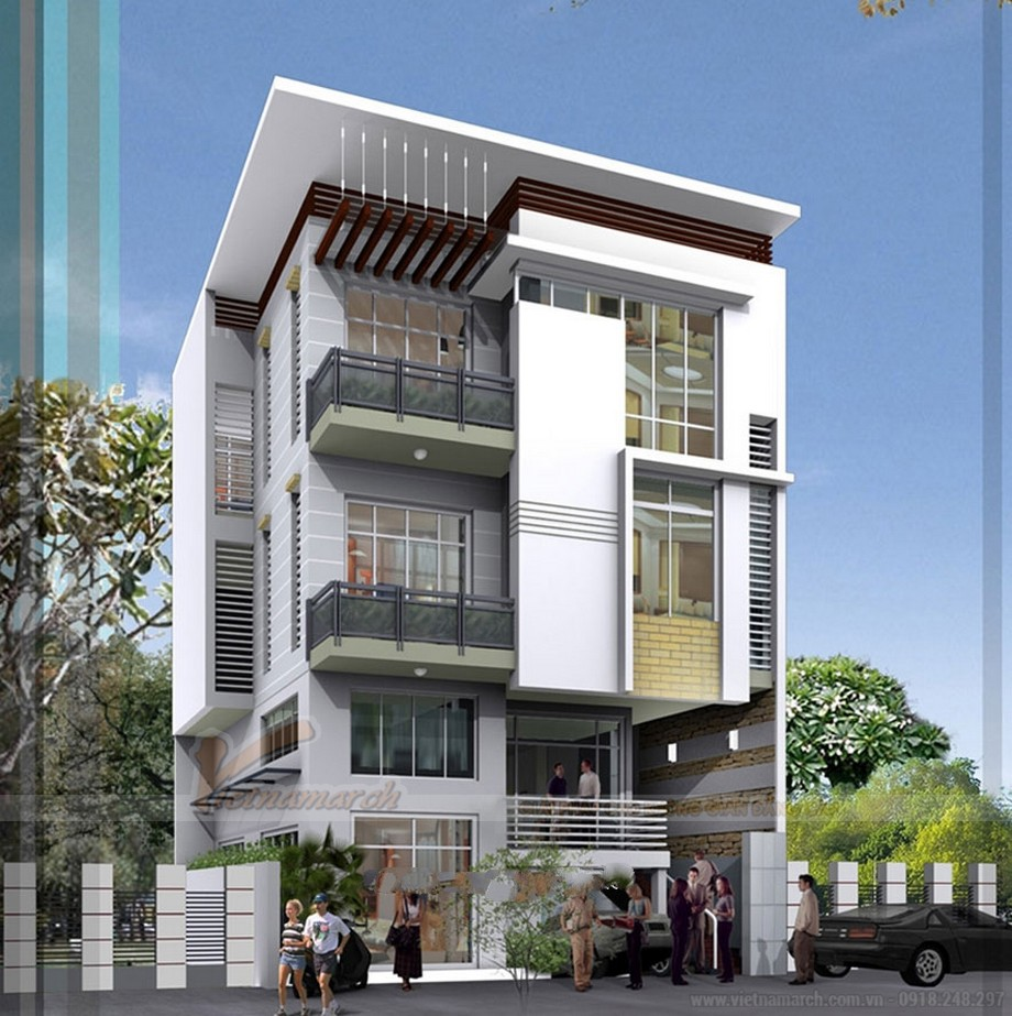 Tổng hợp 15 mẫu nhà phố 3 tầng cực đẹp, mặt tiền chưa đầy 5m-09