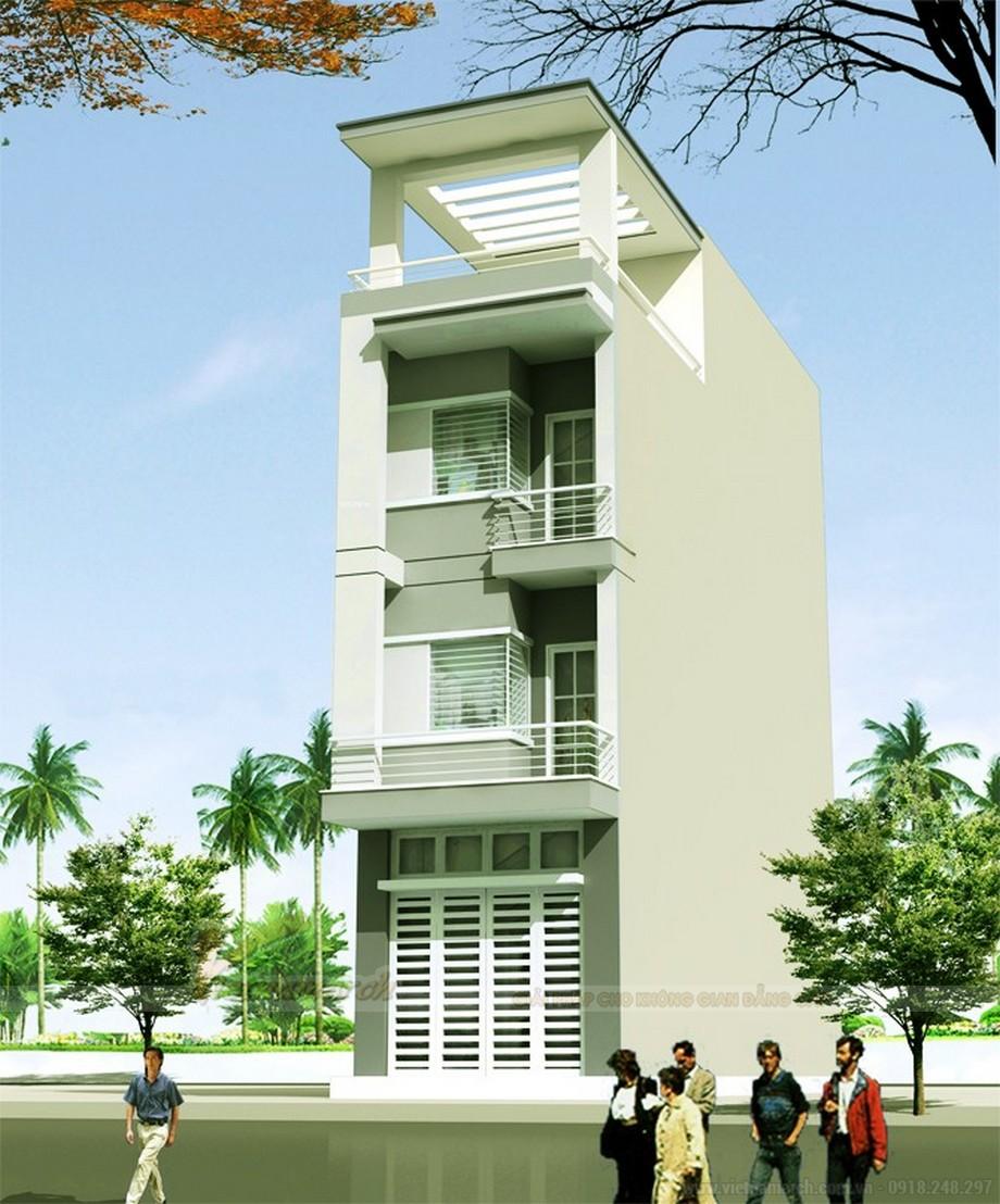 Tổng hợp 15 mẫu nhà phố 3 tầng cực đẹp, mặt tiền chưa đầy 5m-08