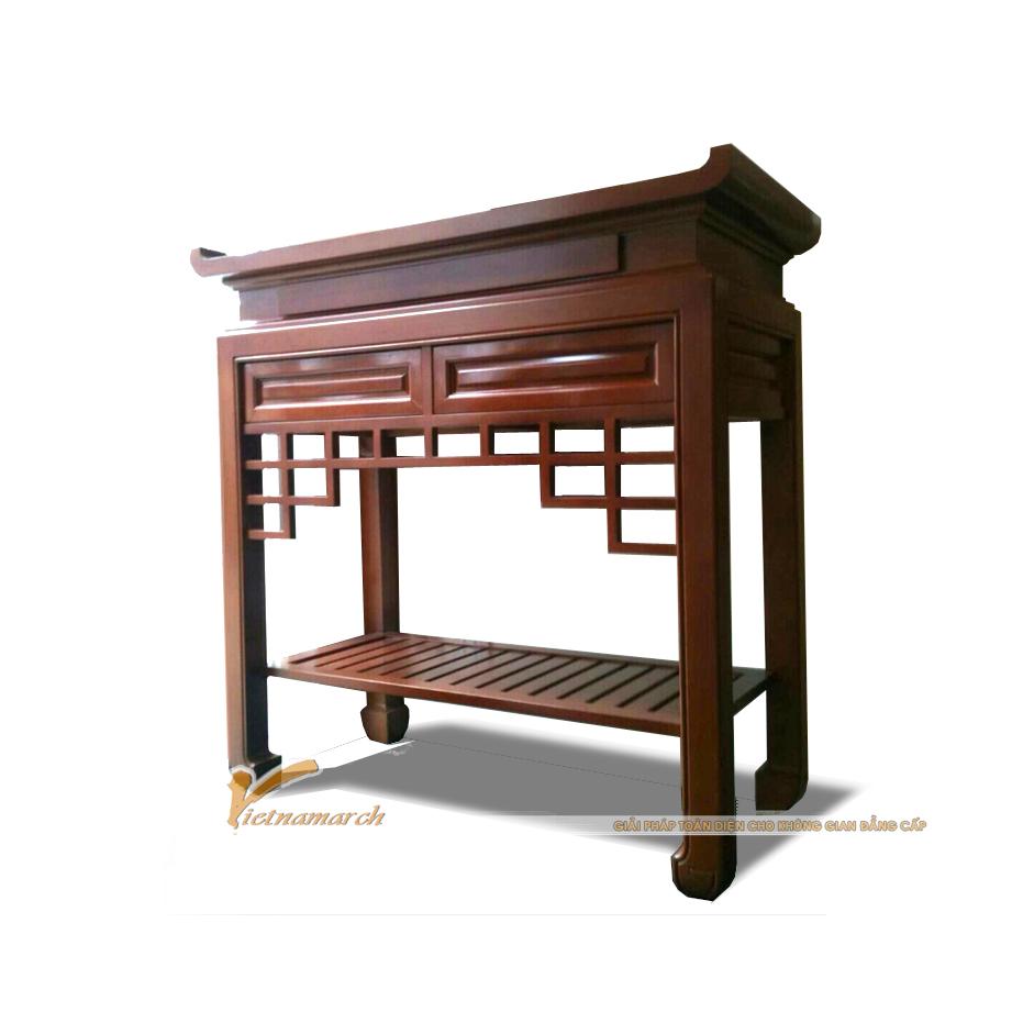Mẫu bàn thờ đứng hiện đại - được sử dụng phổ biến với nhà chung cư, gia đình có phòng thờ nhỏ