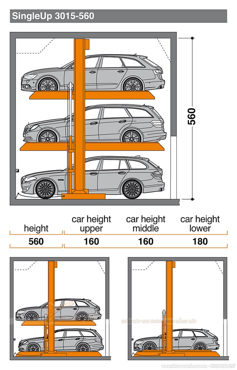 Hệ thống bãi đậu xe singleup 3015-560