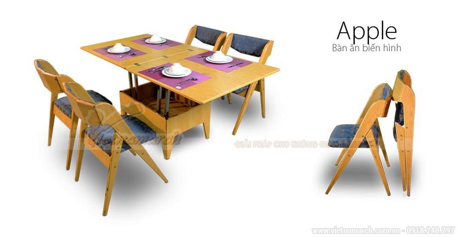 Bộ bàn ghế ăn thông minh