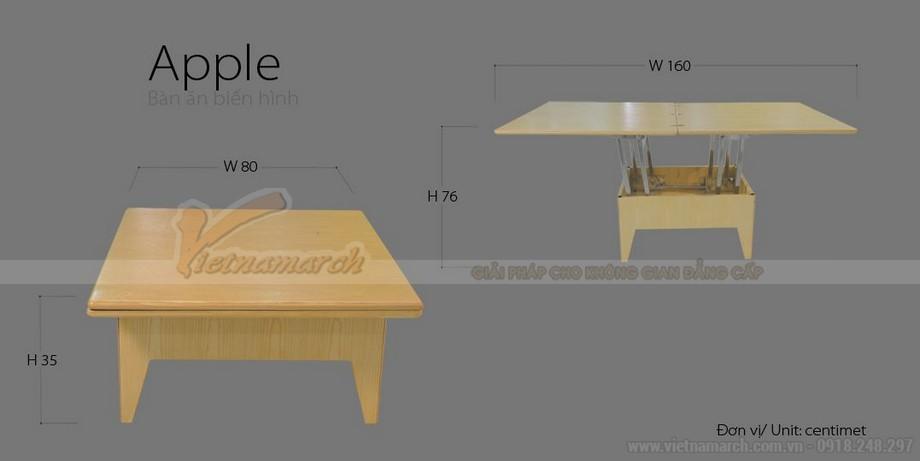 Thông số kỹ thuật của mẫu bàn thông minh 2 trong 1