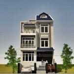 Mẫu biệt thự phố 3 tầng, mặt tiền 7m của nhà anh Hòa – Long An