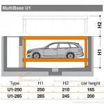 Hệ thống đỗ xe dưới sàn U1 -Multibase