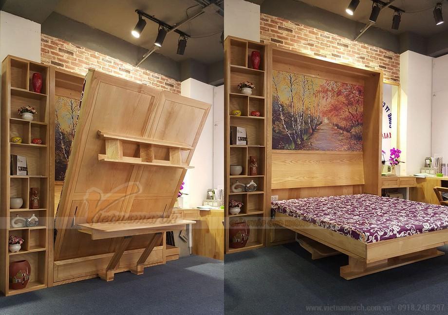 Kết hợp 3 trong 1 tủ để đồ, giường ngủ và bàn học giúp tiết kiệm không gian