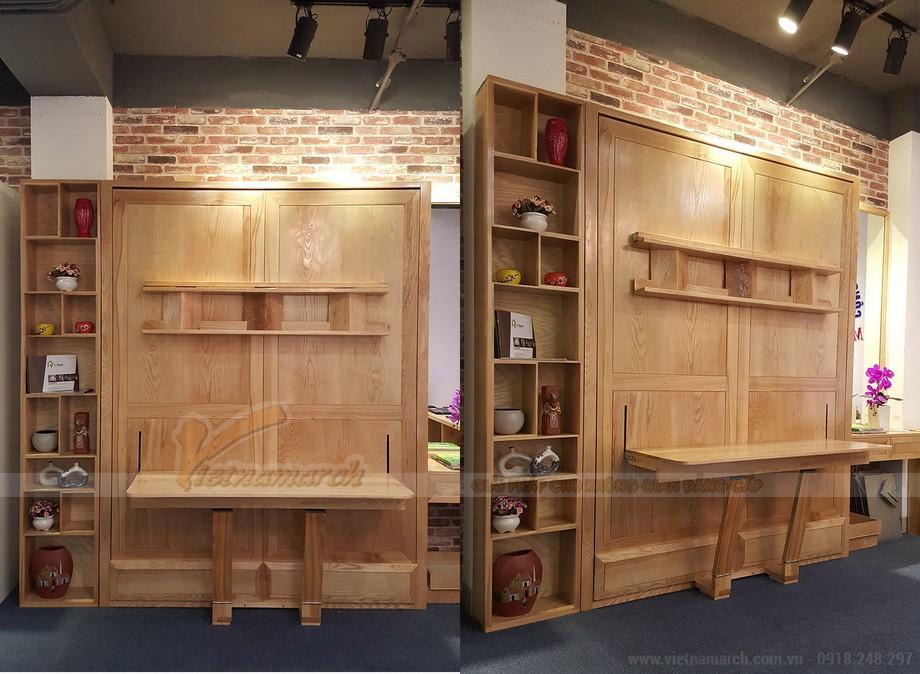 Mẫu nội thất thông minh kết hợp giường ngủ, bàn học và tủ để đồ trong 1 sản phẩm