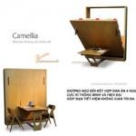 Bàn ăn 4 người + giường đôi Camellia