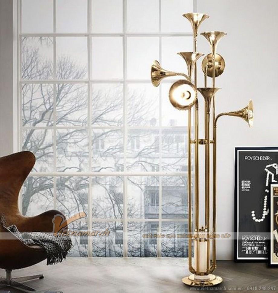 Mẫu đèn trang trí lấy ý tưởng từ chiếc kèn Saxophone