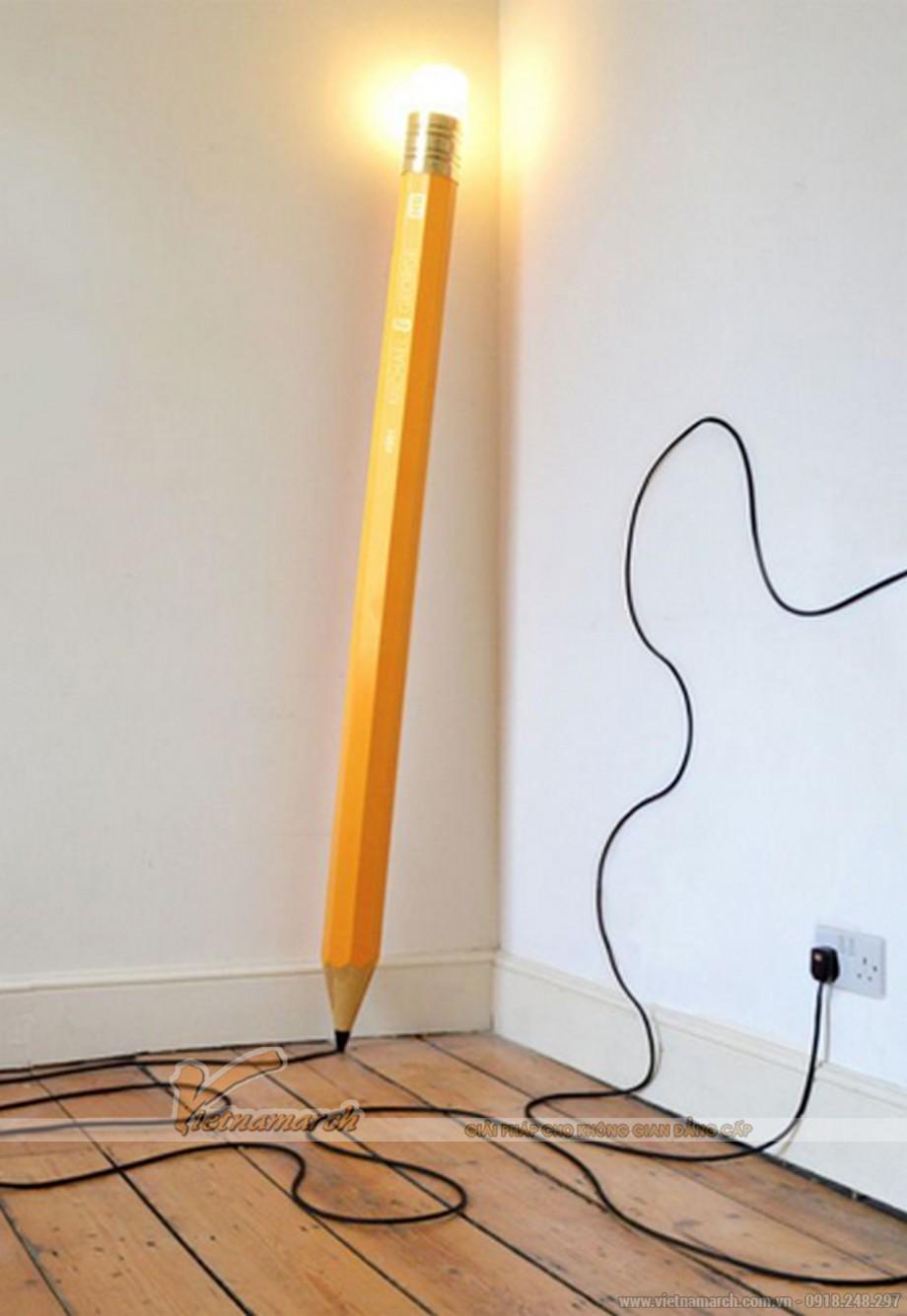 Mẫu đèn trang trí lấy ý tưởng từ cây bút chì độc đáo