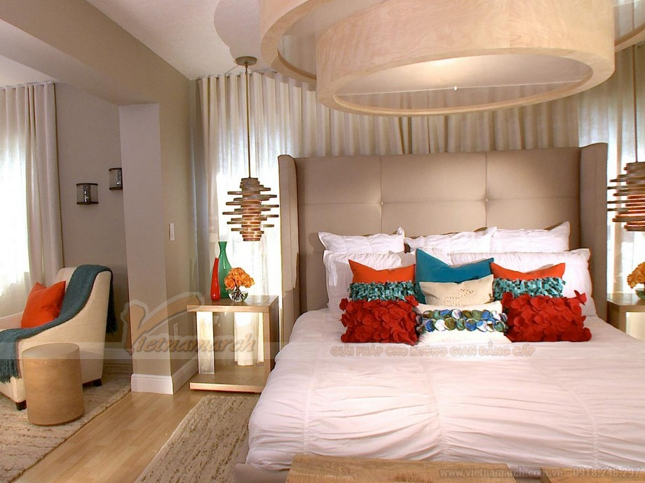 Mẫu phòng ngủ Master thiết kế hiện đại dành riêng cho biệt thự Hoa Anh Đào-06
