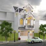 Thiết kế biệt thự mặt phố 3 tầng, mặt tiền 5m cho nhà anh Phúc tại Cần Thơ