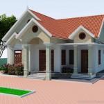 Thiết kế nhà đẹp 1 tầng mái thái cho nhà chú Hưng tại Thái Bình