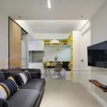 Thiết kế căn hộ 48m2 vẫn thoải mái cho gia đình 4 người