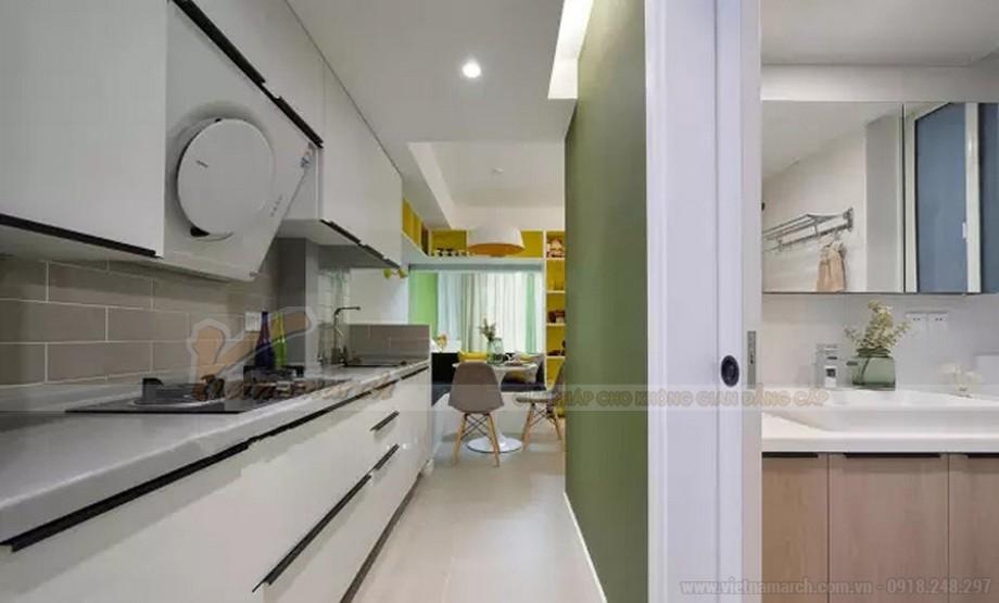 Thiết kế căn hộ chung cư 46m2 với 2 phòng ngủ cho gia đình 4 người
