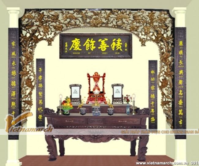 Các bố trí bàn thờ gia tiên