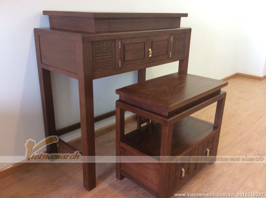 Mẫu bàn thờ hiện đại - Với đường nét thanh tao, nhẹ nhàng.