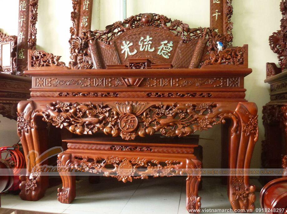 Mẫu bàn thờ gia tiên truyền thống điển hình