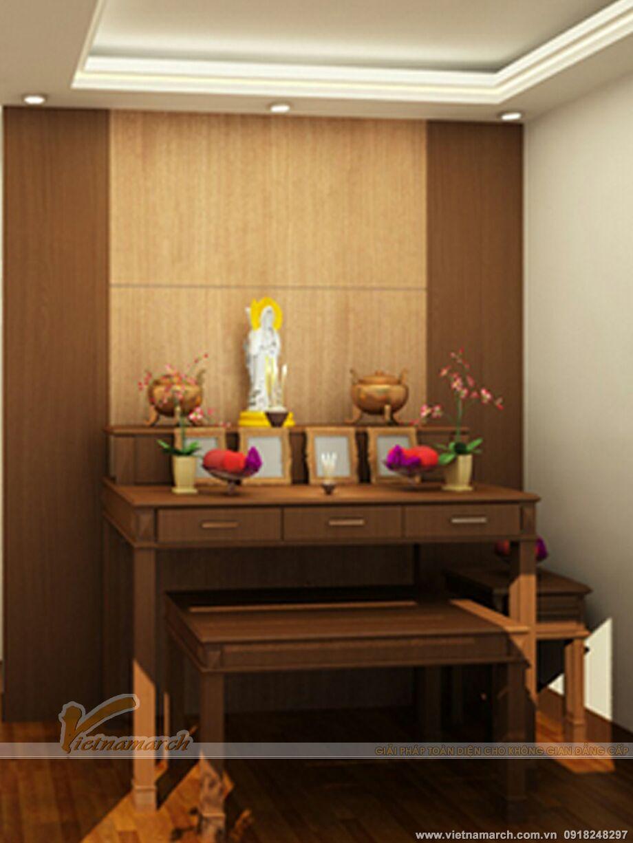 Bàn tủ thờ hiện đại phù hợp cho căn hộ chung cư