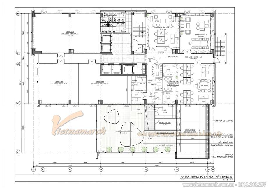 Bản vẽ 2D thiết kế văn phòng công ty Cổ phần xây dựng và đầu tư phát triển hạ tầng Bạch Đằng 6