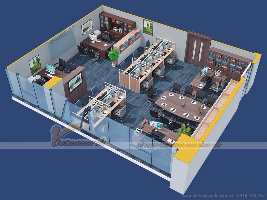 Bản vẽ thiết kế 3D phòng kế hoạch kỹ thuật