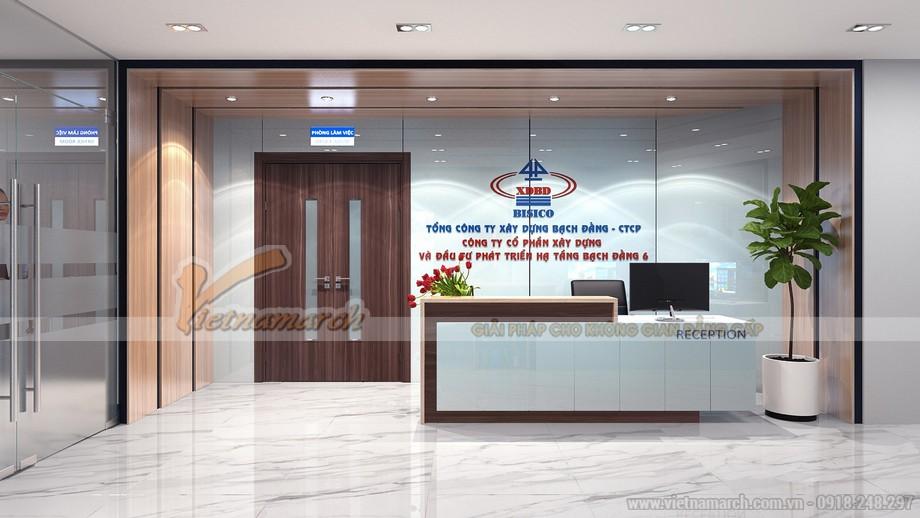 Thiết kế sảnh văn phòng công ty xây dựng tại Hải Phòng