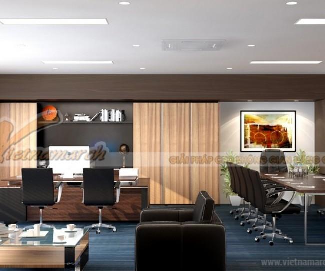 Phương án thiết kế nội thất văn phòng công ty Bạch Đằng 60 Lê Chân, Hải Phòng