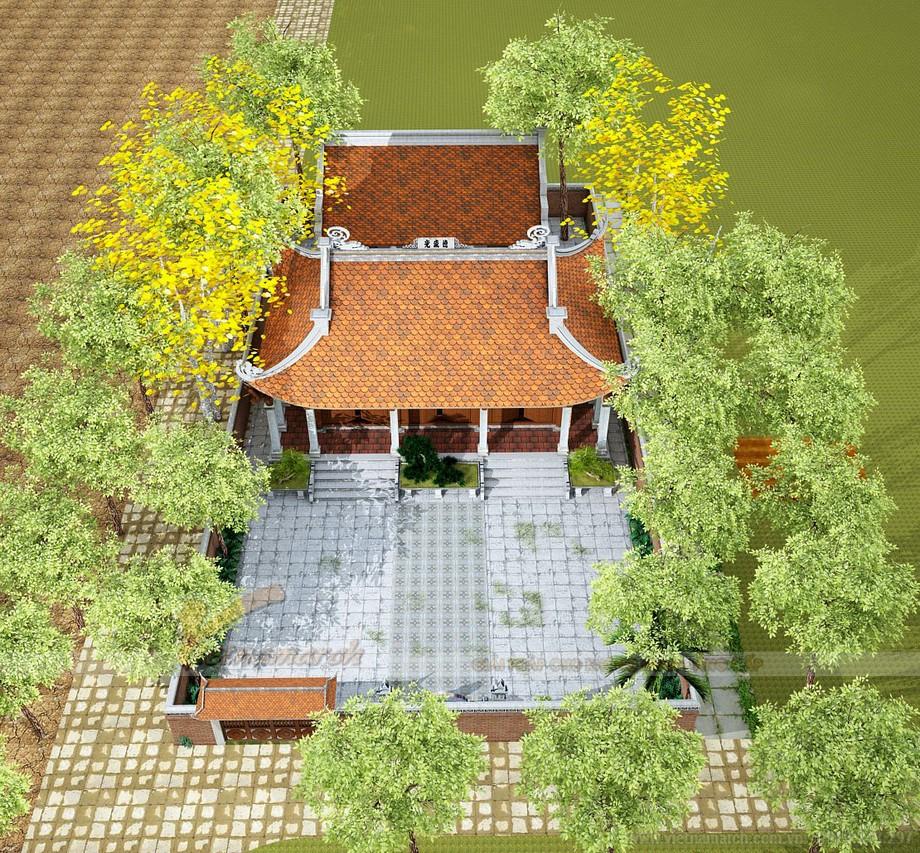 nhà thờ 3 gian 4 mái tại Nho Quan - Ninh Bình