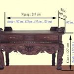 Bảng tra kích thước ban thờ chuẩn lỗ ban – Thước lỗ ban 39