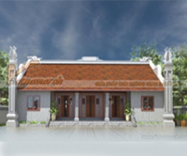 Mẫu thiết kế nhà thờ họ 5 gian 2 mái đẹp